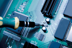 układ scalony komputer Obrazy Stock