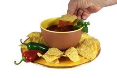 układ scalony maczania salsa Zdjęcia Royalty Free