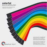 układu abstrakcjonistyczny kolorowy wektor Obraz Royalty Free
