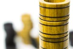 Układy scaleni od gemowych warcabów lub trik-trak na each inny Zdjęcie Royalty Free