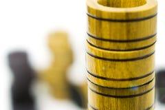Układy scaleni od gemowych warcabów lub trik-trak na each inny Obraz Stock