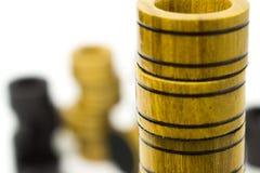 Układy scaleni od gemowych warcabów lub trik-trak na each inny Zdjęcia Stock