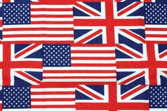 UK and american flag Stock Photos