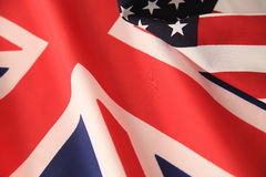 UK and American flags together Royalty Free Stock Photography