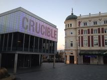 UK Anglia Yorkshire Sheffield Tyglowy Theatre obraz stock