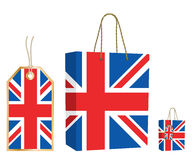 Uk bag and tag royalty free illustration
