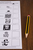 UK Ballot Paper and Pencil Royalty Free Stock Image