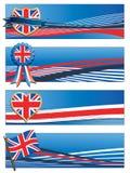 Uk banners royalty free illustration