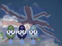 UK beväpnad service Arkivbilder