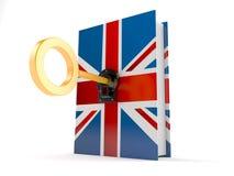 UK-bok med tangent stock illustrationer