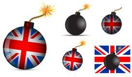 Uk bomb. Set of uk bomb isolated on white background Stock Image