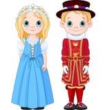 UK Boy and Girl. Boy and Girl in UK folk costumes Stock Image