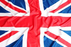 UK brittisk flagga, Union Jack Arkivbild