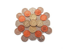 uk brytyjskie monety Zdjęcia Royalty Free
