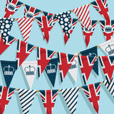 Uk bunting background Stock Image