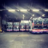 uk bus garage Royalty Free Stock Photo