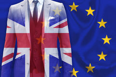 UK business man Brexit EU Royalty Free Stock Photo