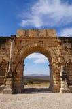 Łuk Caracalla w Volubilis Zdjęcia Royalty Free