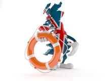 UK character holding life buoy Stock Photography