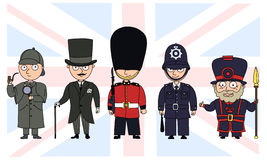 UK characters. Royalty Free Stock Photos