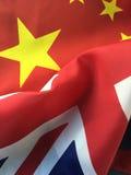 UK and China flags Stock Photo