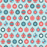 Uk christmas pattern Stock Photography