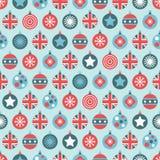 Uk christmas pattern Stock Photography