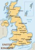 UK cities map stock photography