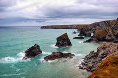 UK cliff coast cornwall royalty free stock image