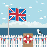 Uk coastal scene Royalty Free Stock Image