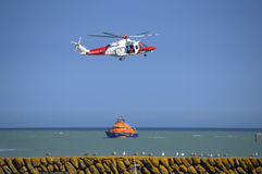 UK Coastguard rescue service operation Royalty Free Stock Photo