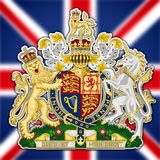 Uk coat of arms Stock Images