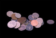 UK coinage - loose change Royalty Free Stock Photography