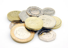 UK coins Royalty Free Stock Photo