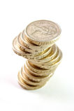 UK coins. Stack of British sterling pound coins Royalty Free Stock Photography
