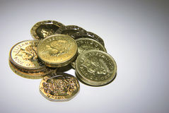 UK coins Stock Photos