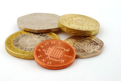 UK coins Royalty Free Stock Photography