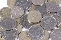 Uk coins. A collection of UK coins Royalty Free Stock Image