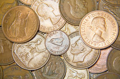 UK Coins Stock Image