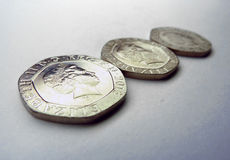 UK Coins 20p Royalty Free Stock Photos