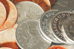 Uk Coins - Shiny. A shot of some shiny UK sterling coins Royalty Free Stock Photography