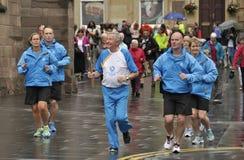 2014 UK Commonwealth Games Baton Relay in Perth Scotland UK Royalty Free Stock Image