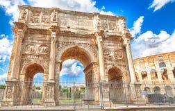 Łuk Constantine Rome Zdjęcia Stock