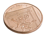 A UK copper two pence coin Stock Photo