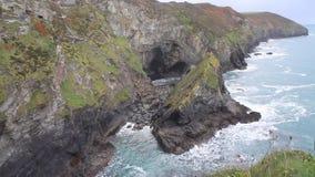 UK Cornish coast at St Agnes Cornwall in Autumn stock video