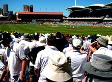 UK Cricket Supporters during the Ashes Royalty Free Stock Photo