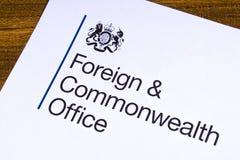 UK Cudzoziemski i wsp?lnota narod?w biuro fotografia royalty free