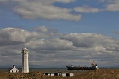 Walney Island Lighthouse Cumbria UK stock photography