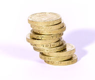 UK Currency. Image of UK currency coins on a white background Royalty Free Stock Image