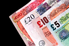 UK Currency paper money - Banknotes. Stock Images